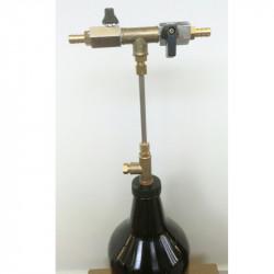 Llenadora contrapresión semiautomática para Growler