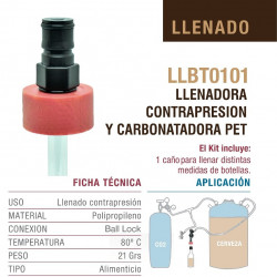 CARBONATADOR DE BOTELLAS PET BALL LOCK